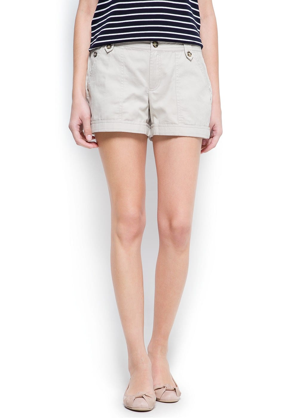 Wrapped hems cotton shorts | MANGO