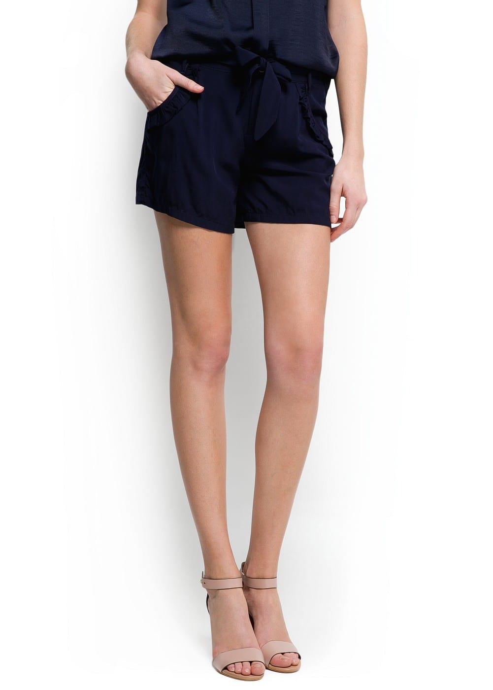 Ruffle pocket shorts | MANGO