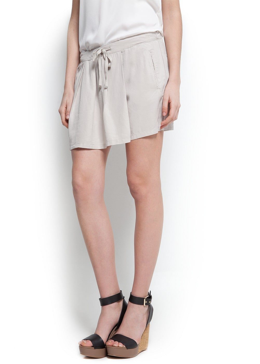 Pleated skirt shorts | MANGO