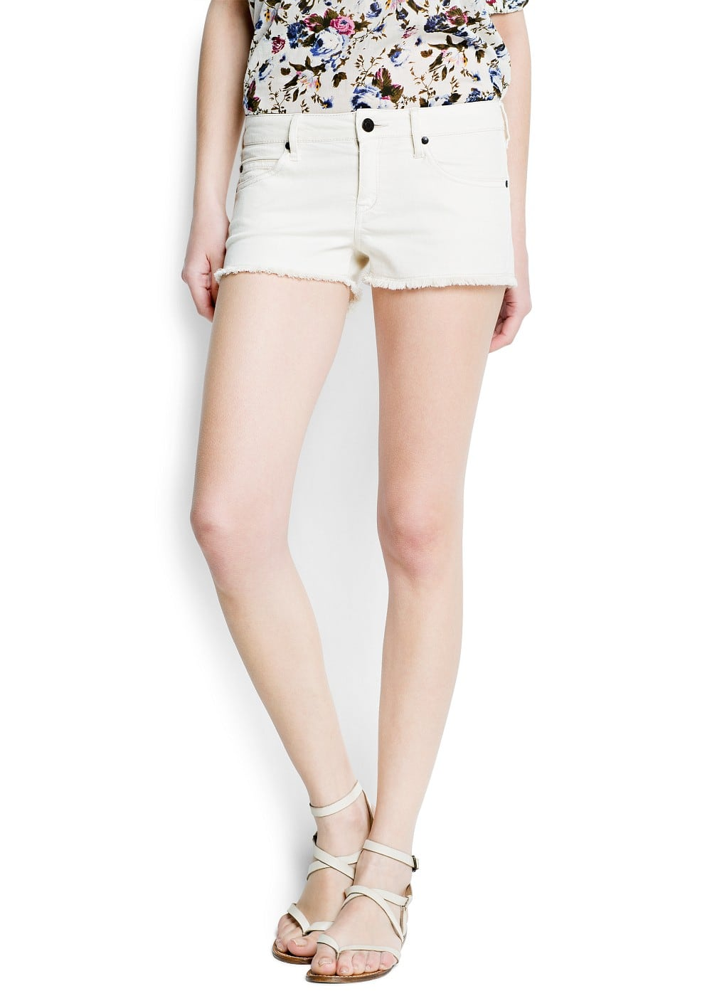 Frayed hems shorts | MANGO