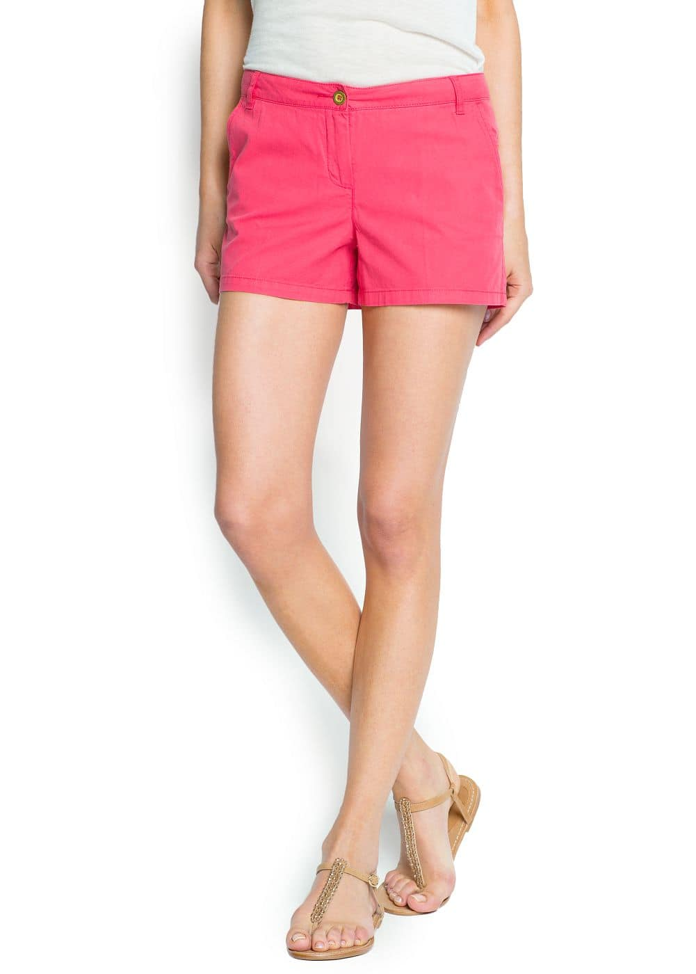 Cotton chino short | MANGO