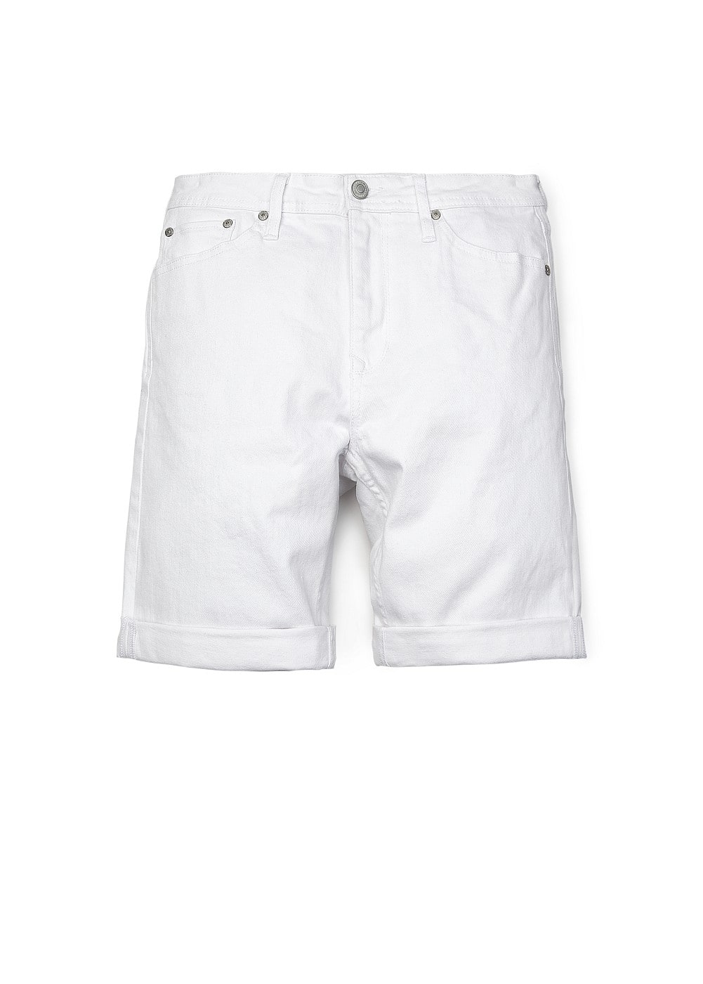 White denim bermuda shorts - Woman | MANGO United Kingdom