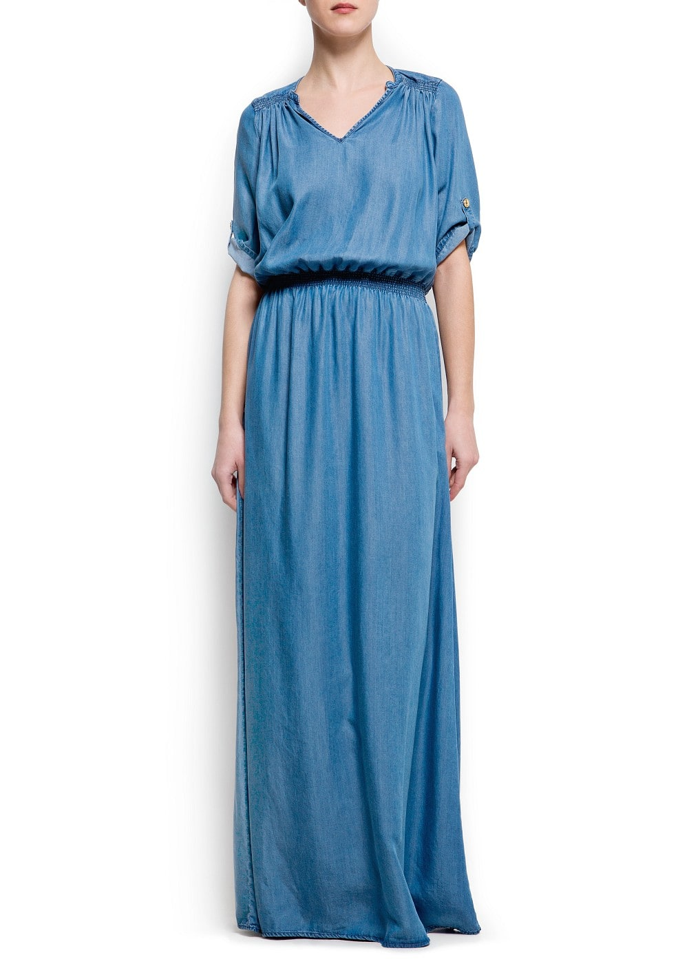 Denim long dress | MANGO