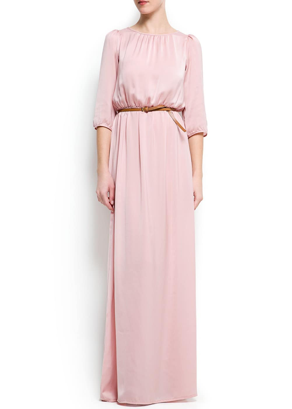 Satin long dress | MANGO