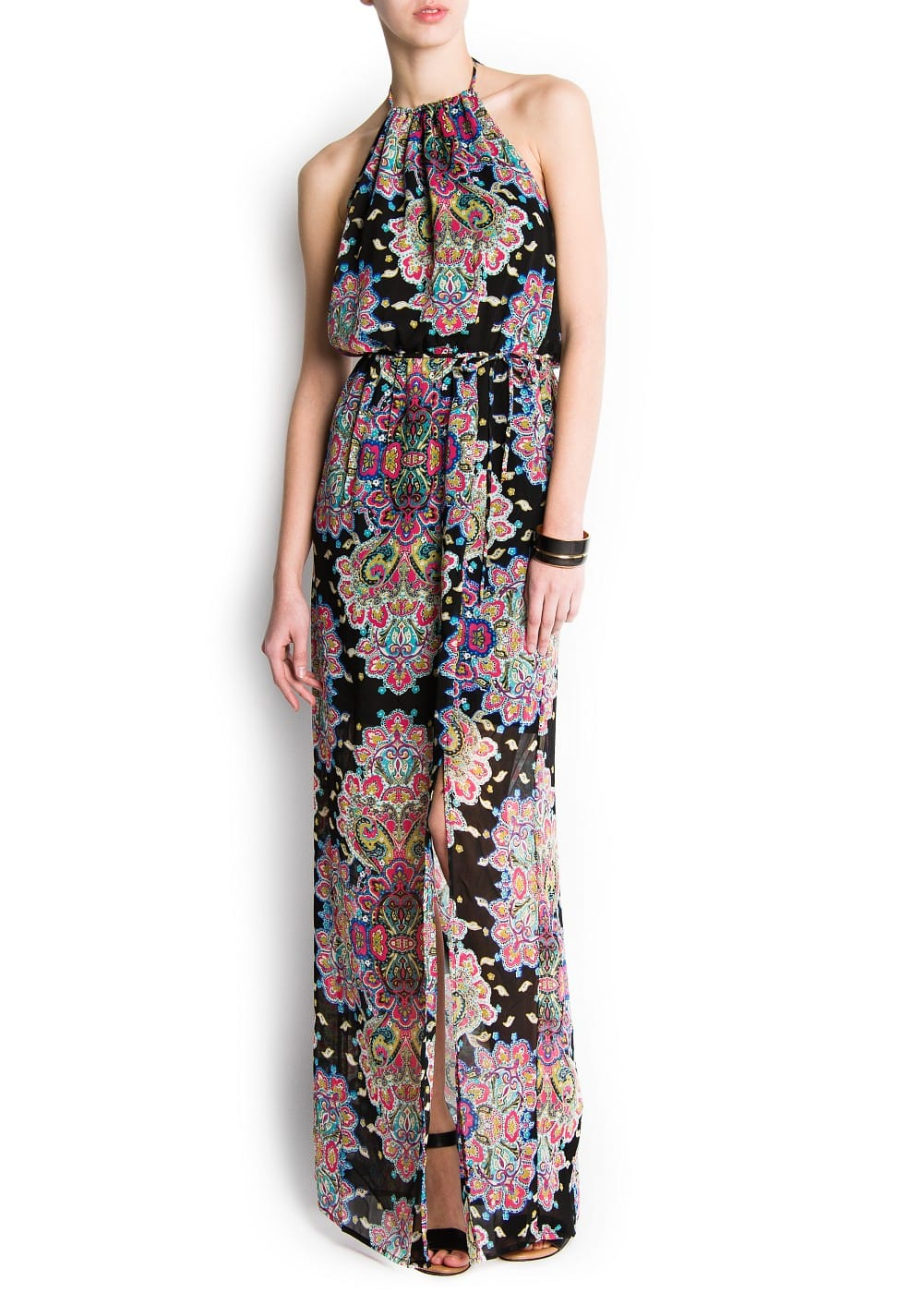 Paisley printed long dress | MANGO