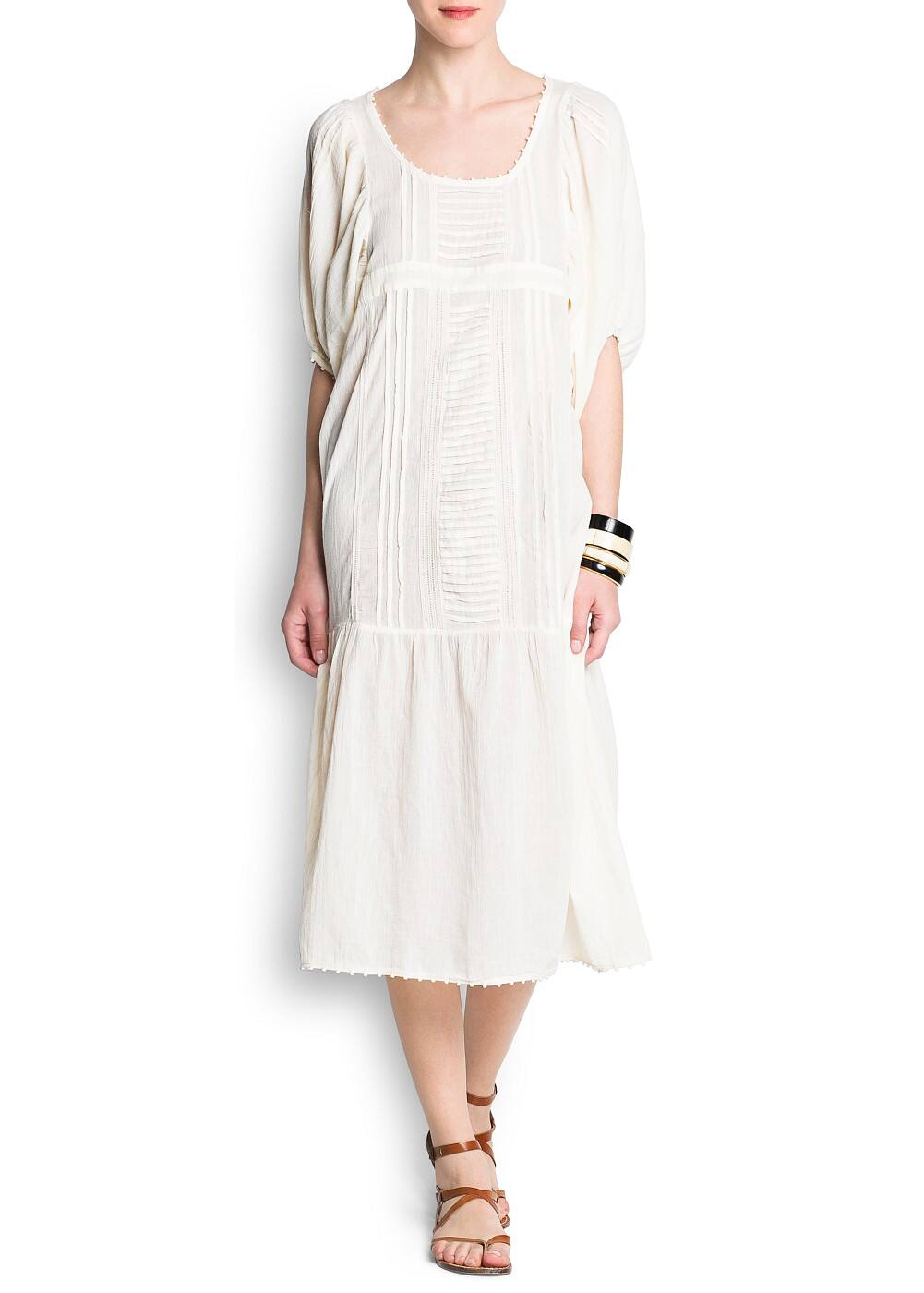 Cotton long dress | MANGO
