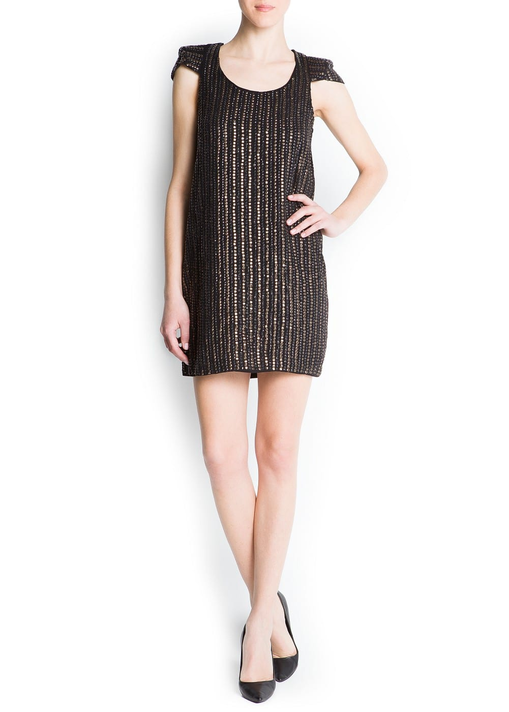 Striped sequins dress | MANGO