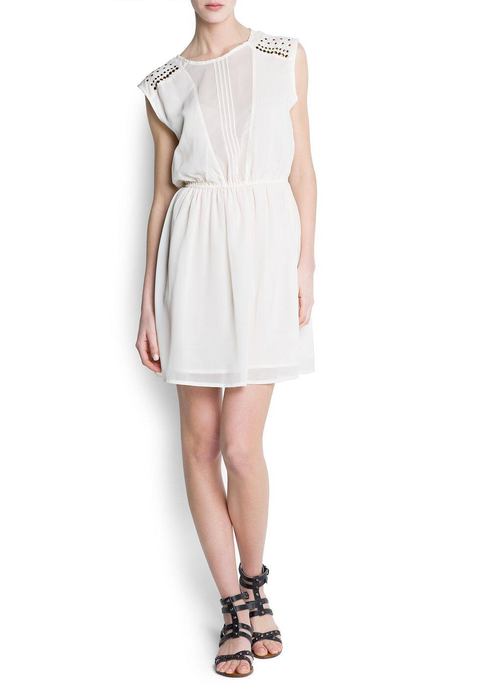 Semi-transparent panel dress | MANGO