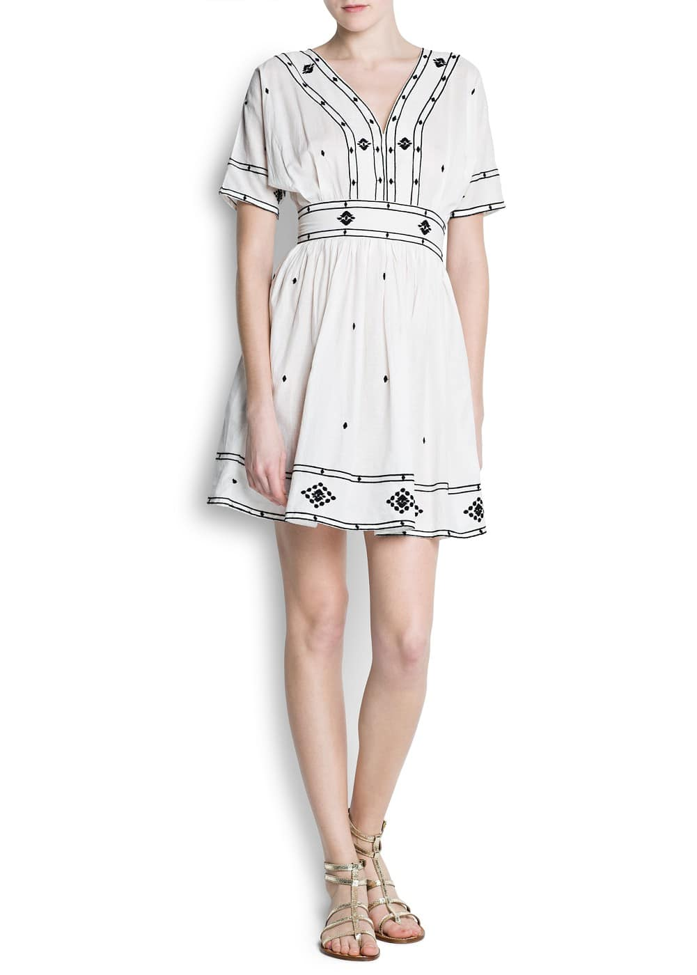Cotton embroidered dress | MANGO