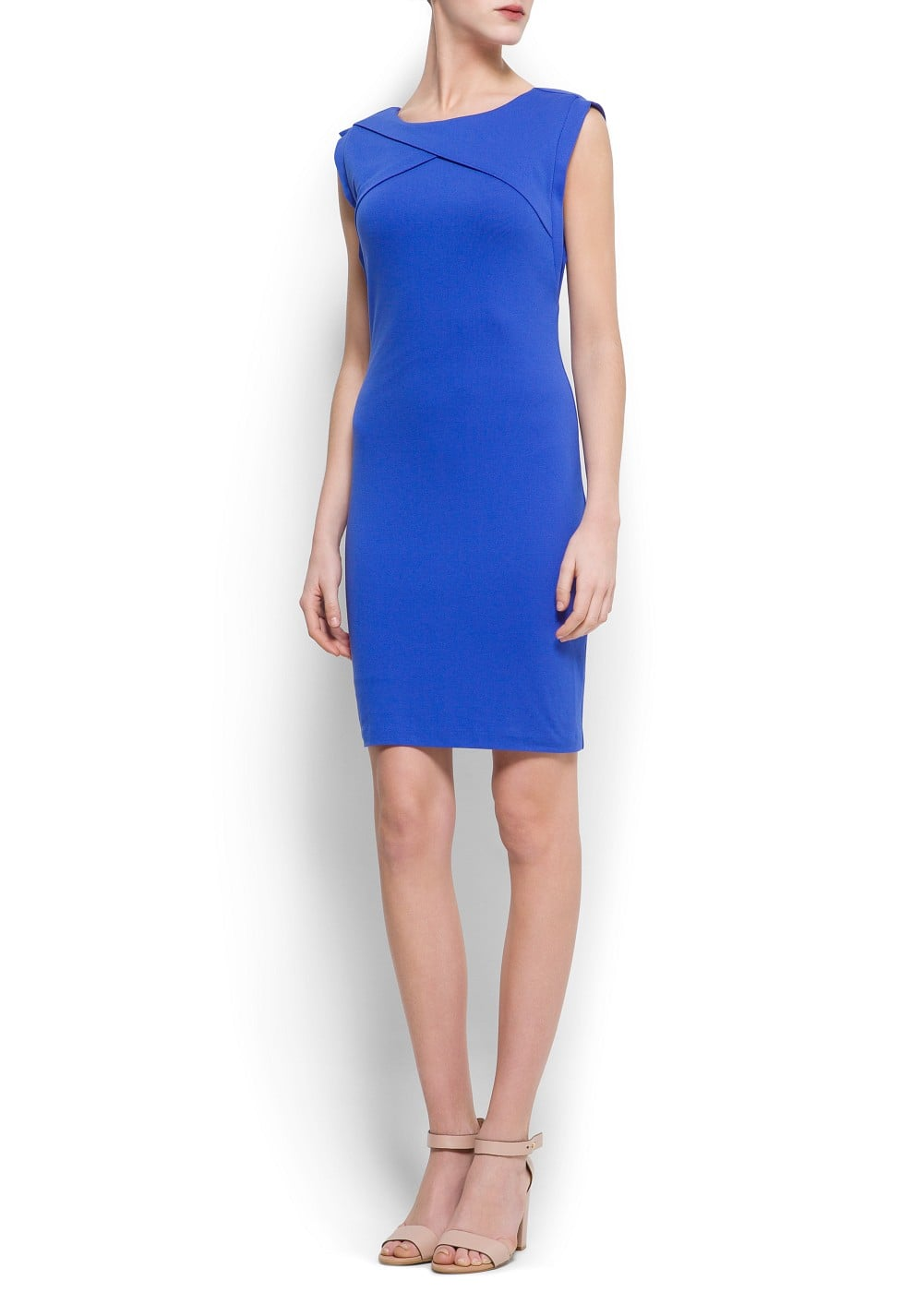Origami stretch-jersey dress | MANGO