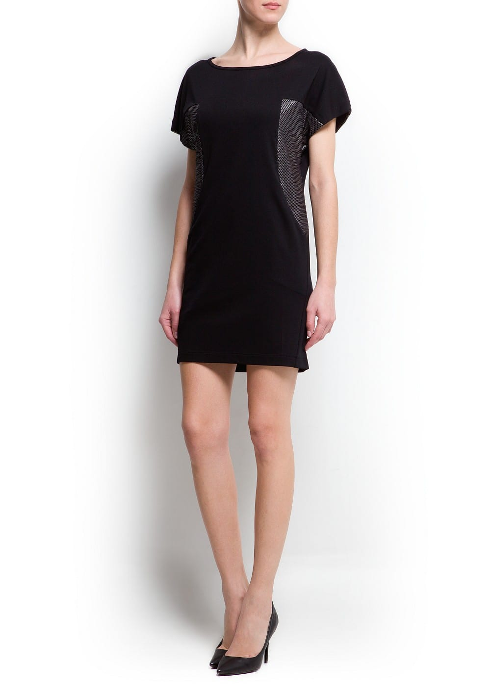 Mesh panels dress | MANGO