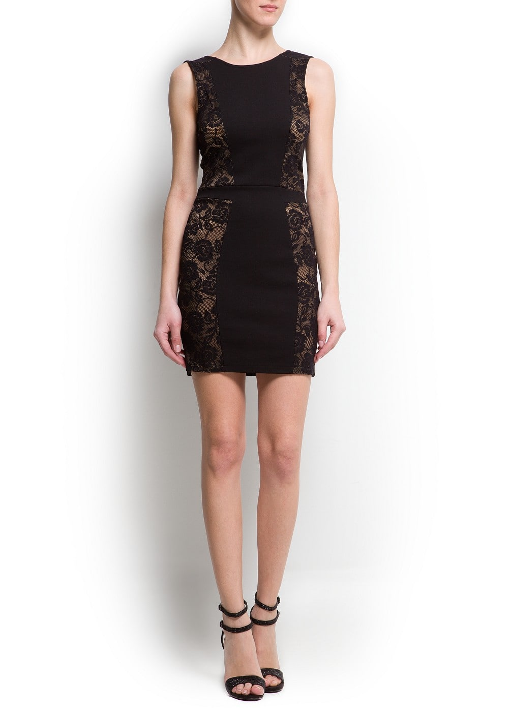 Lace panels dress | MANGO