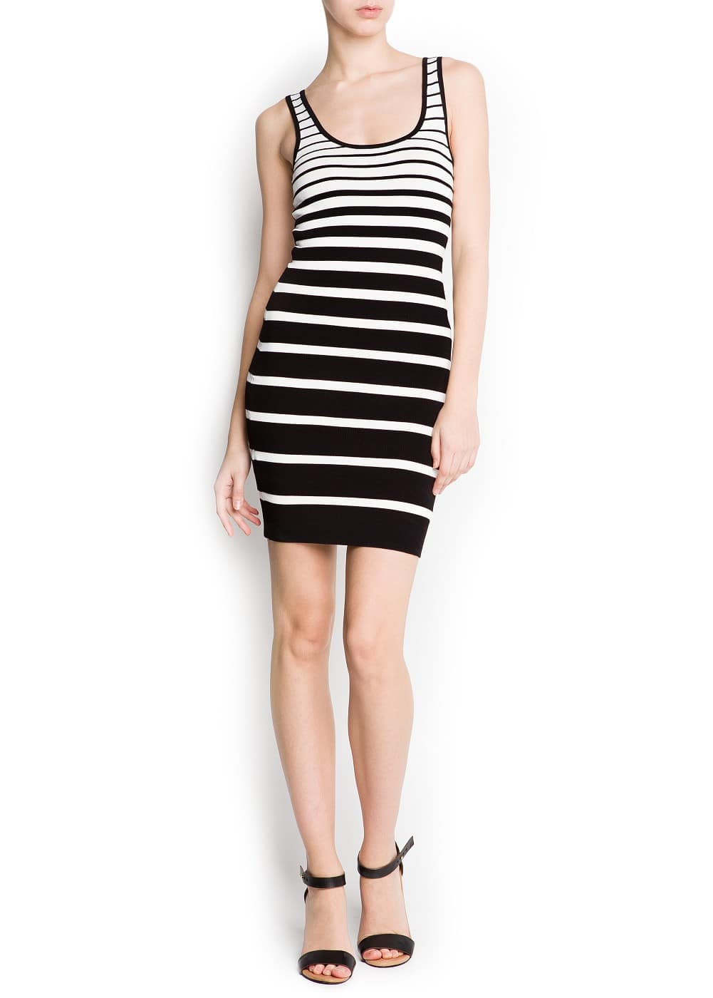 Striped knit dress | MANGO