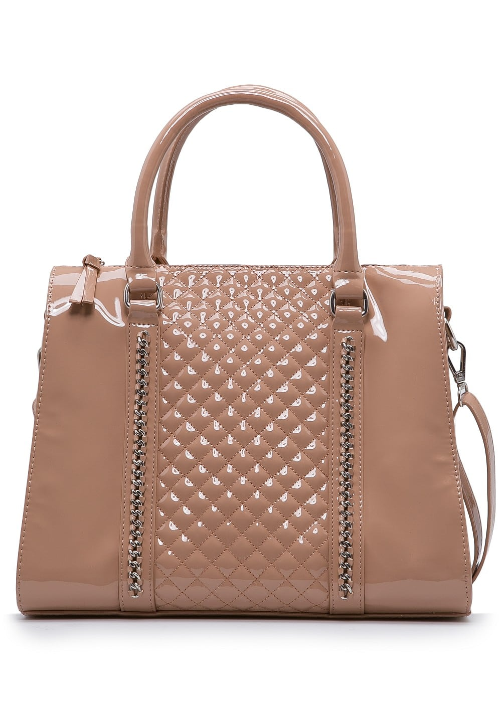 Patent chain tote bag | MANGO