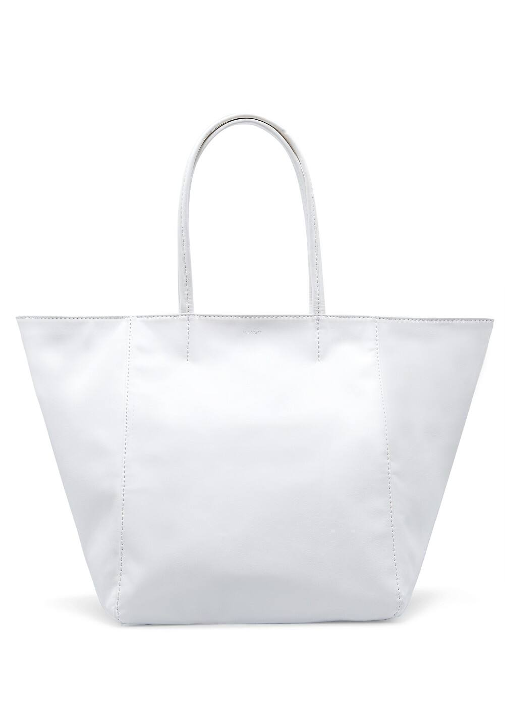 Faux leather tote bag | MANGO