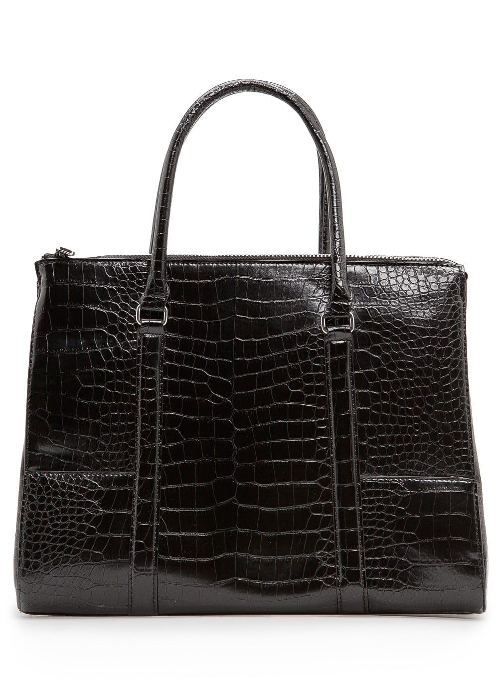 Croc effect tote bag | MANGO