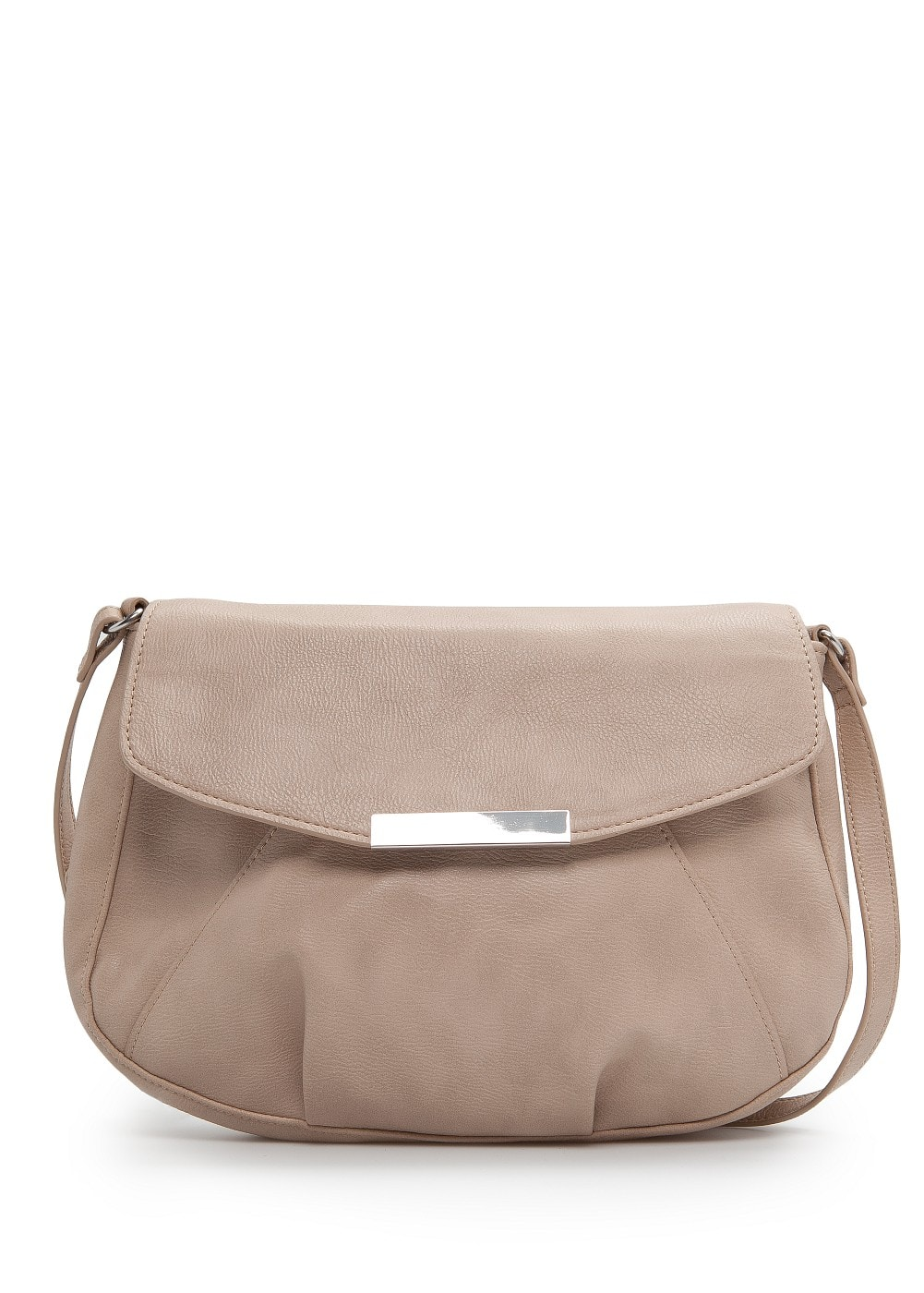 Metal plate shoulder bag | MANGO