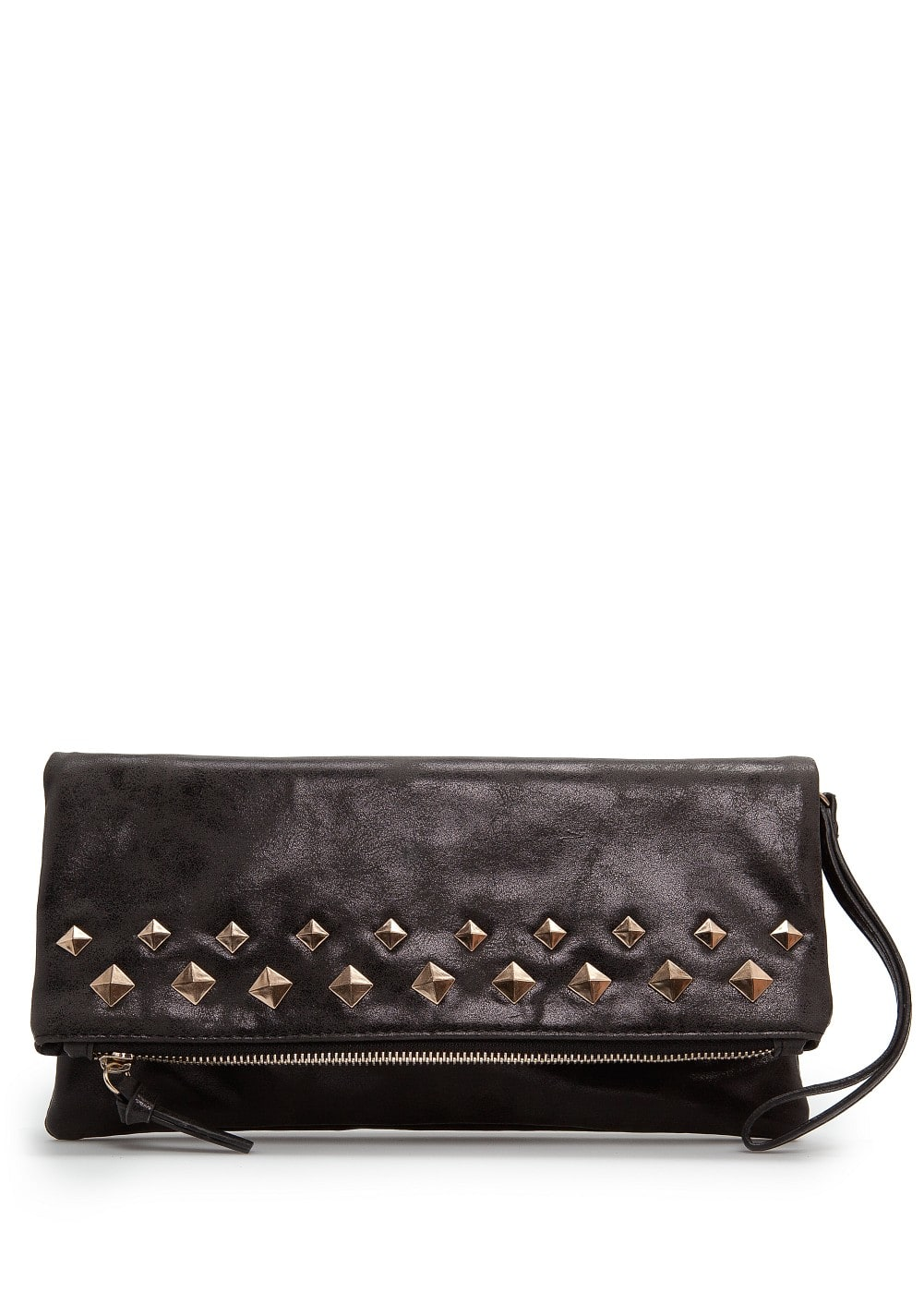 Studded metallic clutch | MANGO
