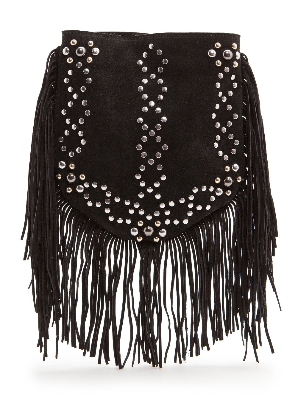 Studs and fringes bag | MANGO