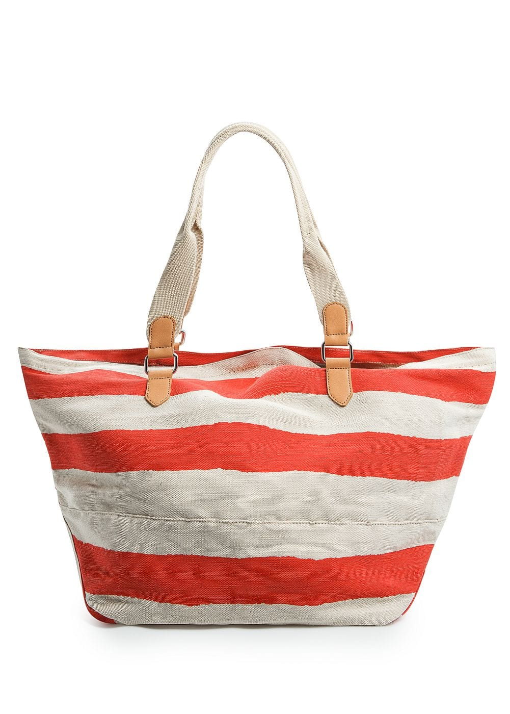 Canvas striped maxi bag | MANGO