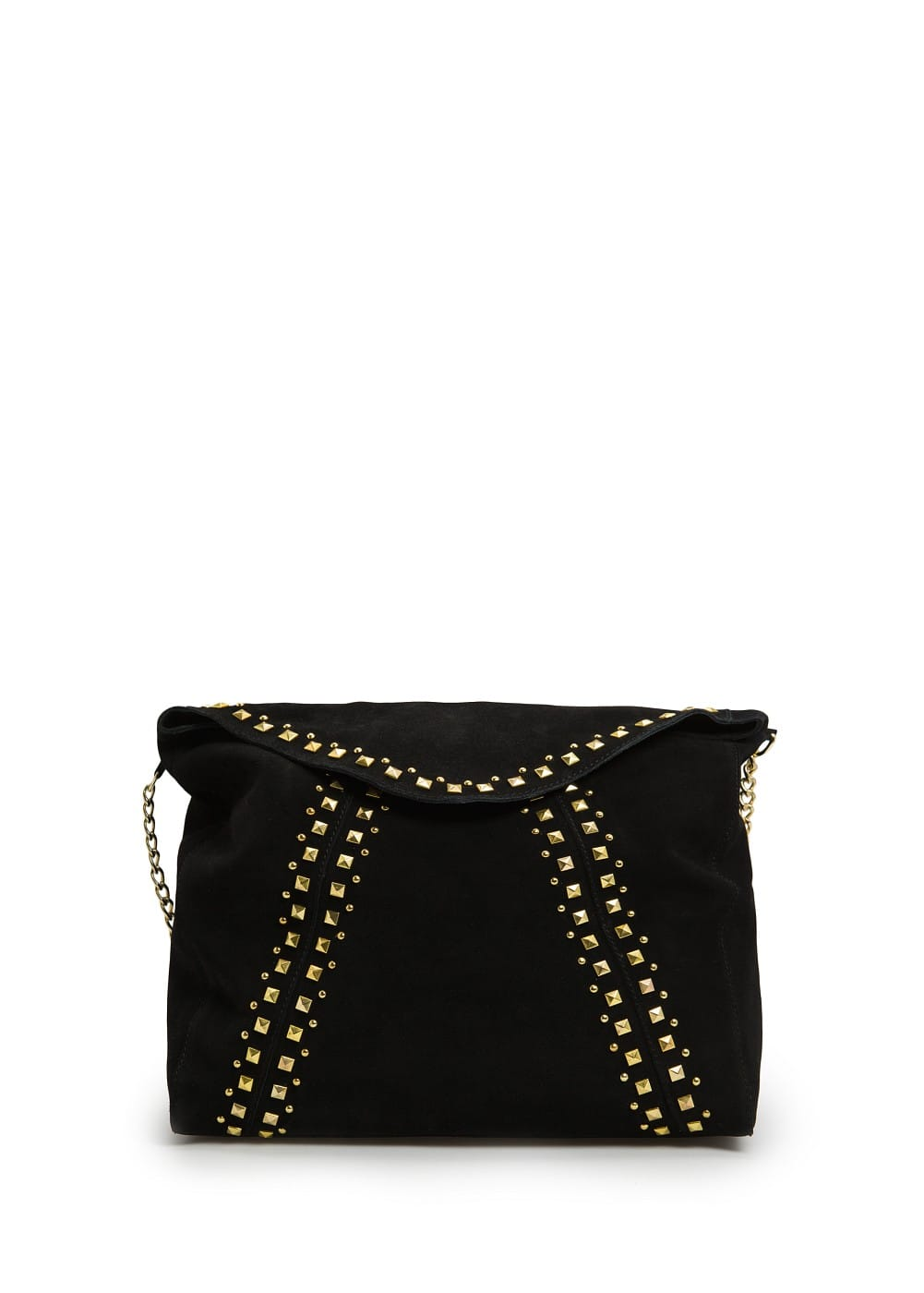 Studded suede messenger bag | MANGO