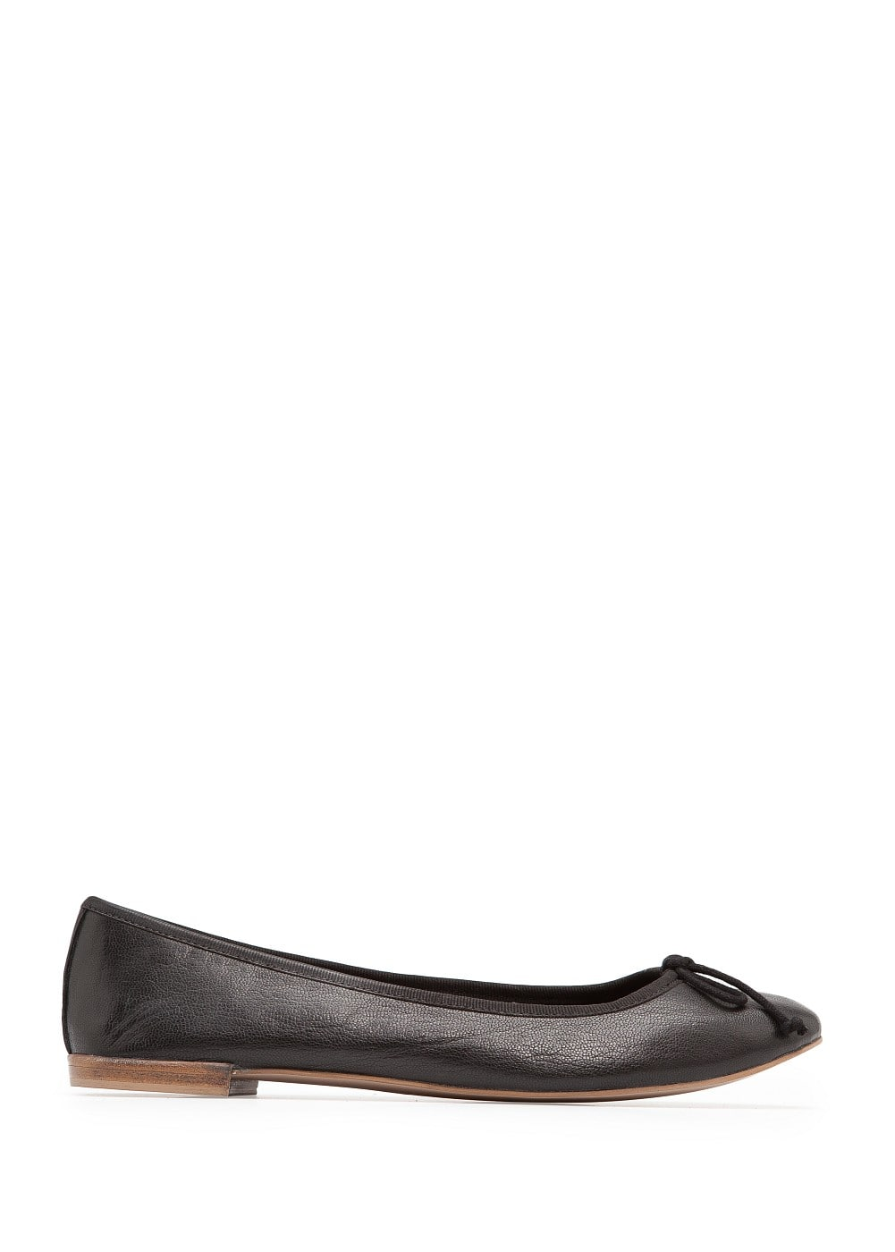 Leather ballerinas | MANGO