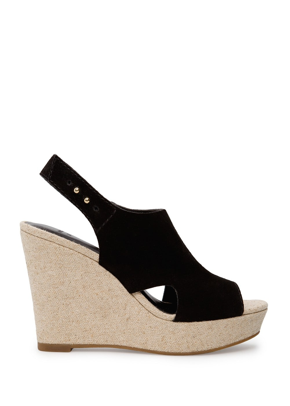 Suede wedge sandals | MANGO