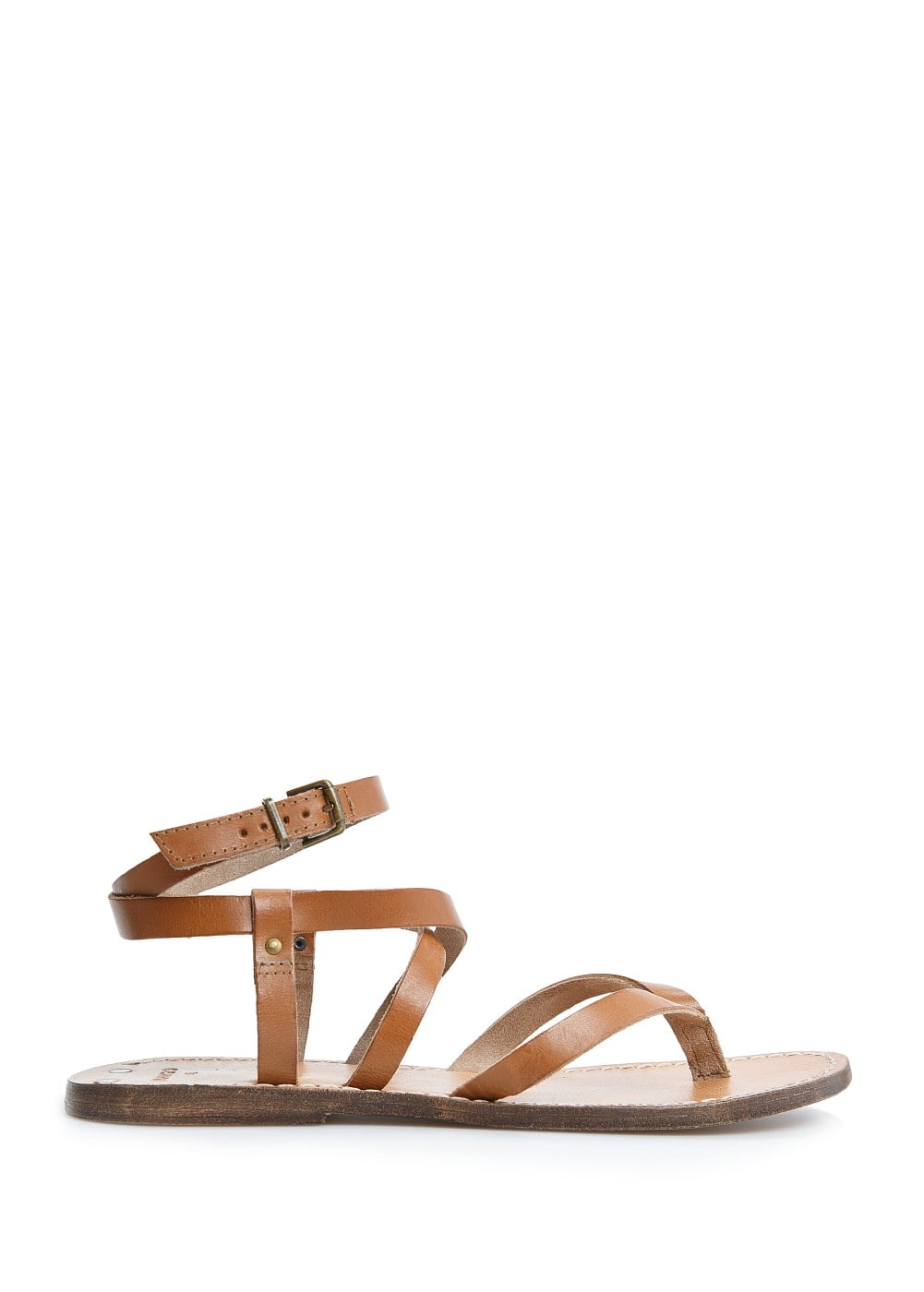 Leather multi-strap sandals | MANGO