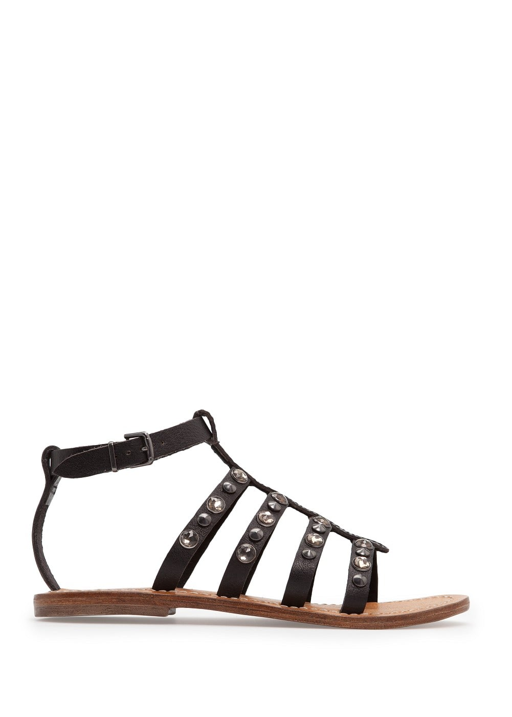 Crystal embellished gladiator sandals | MANGO