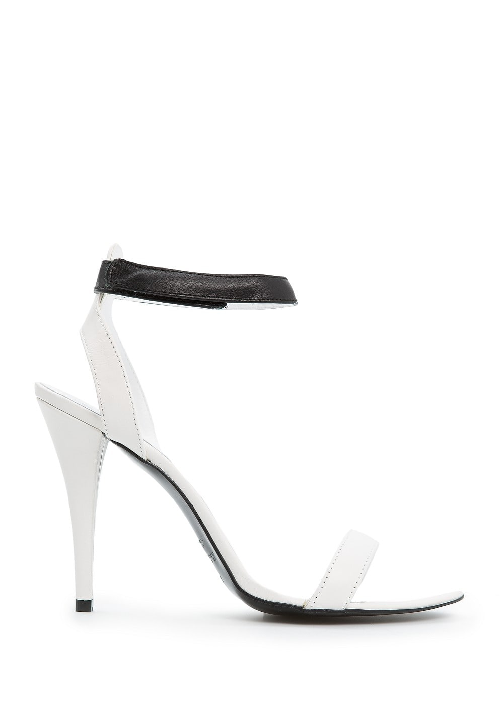 Leather ankle strap sandals | MANGO