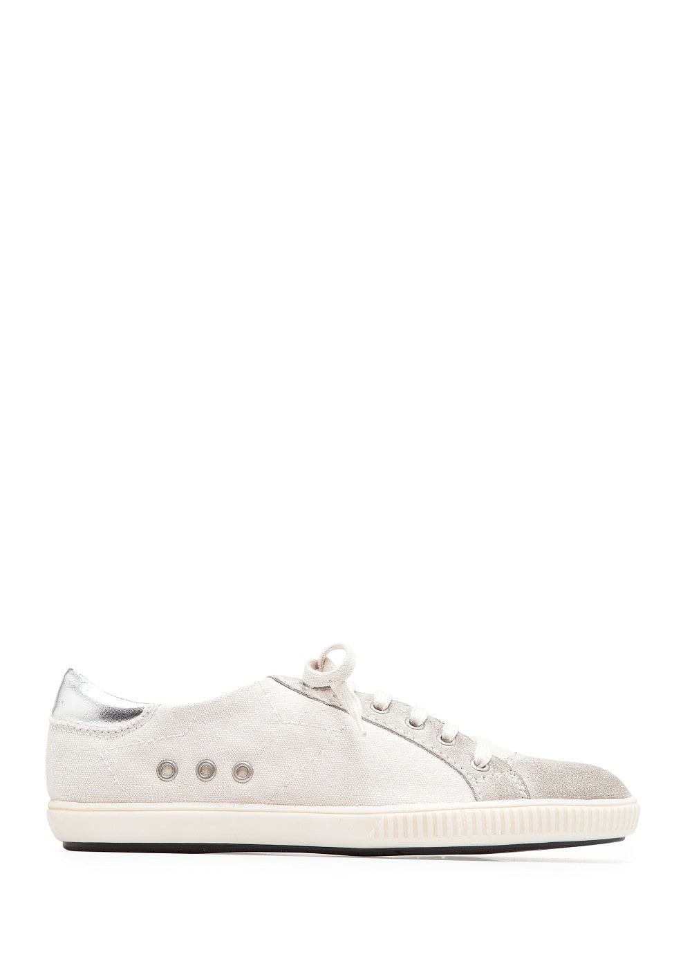 Leather details sneakers | MANGO