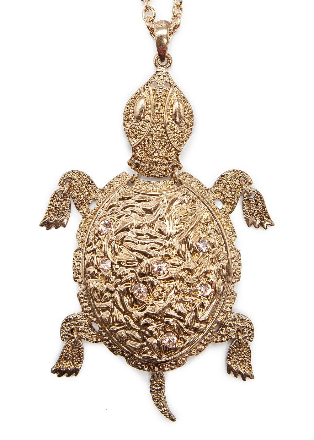 Turtle pendant necklace | MANGO