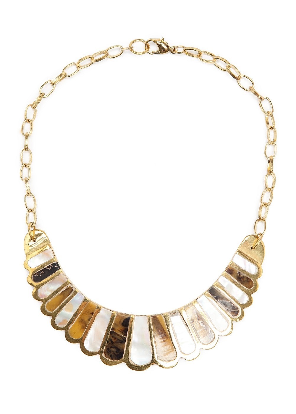 Mother of pearl necklace | MANGO