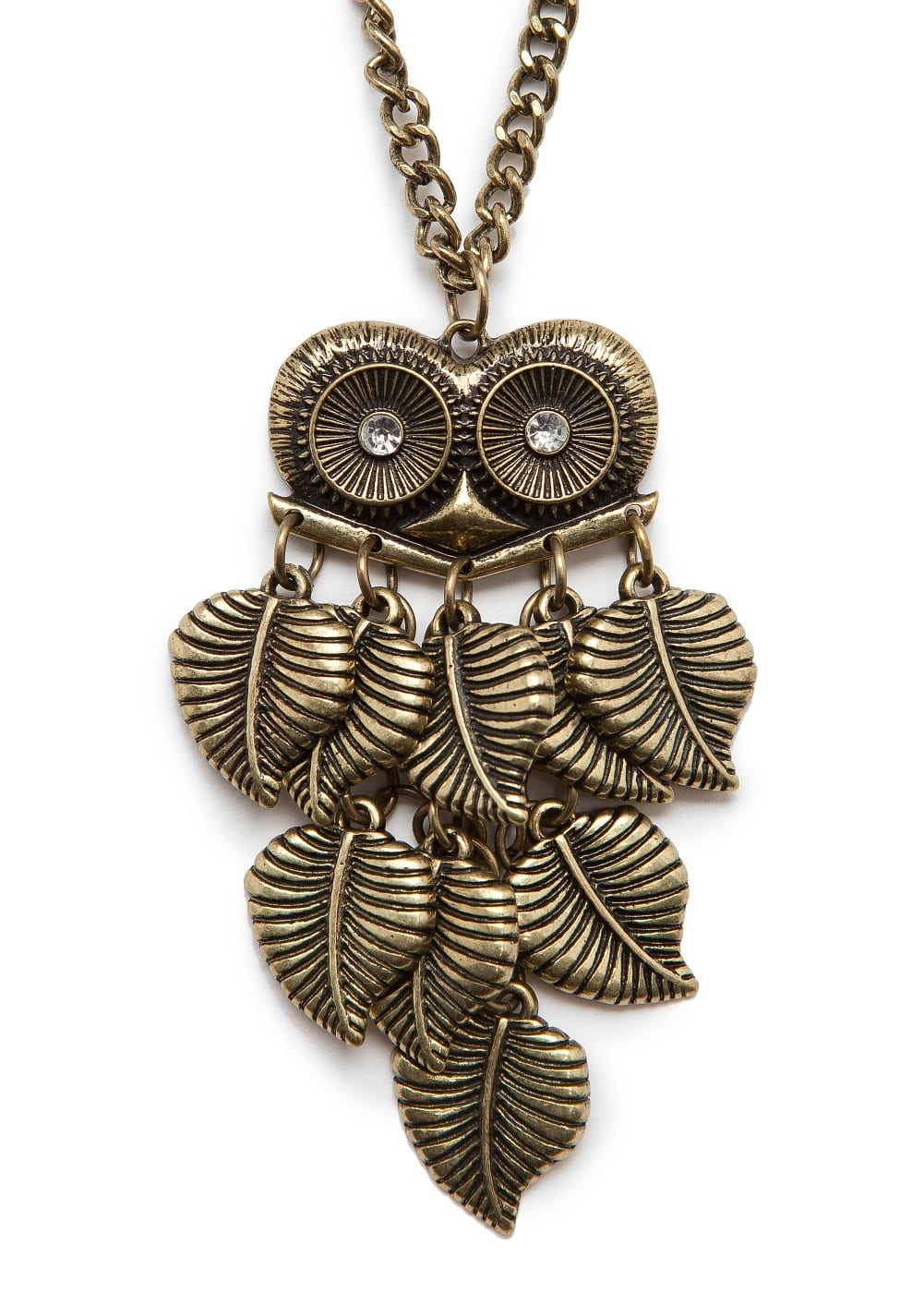Owl pendant necklace | MANGO