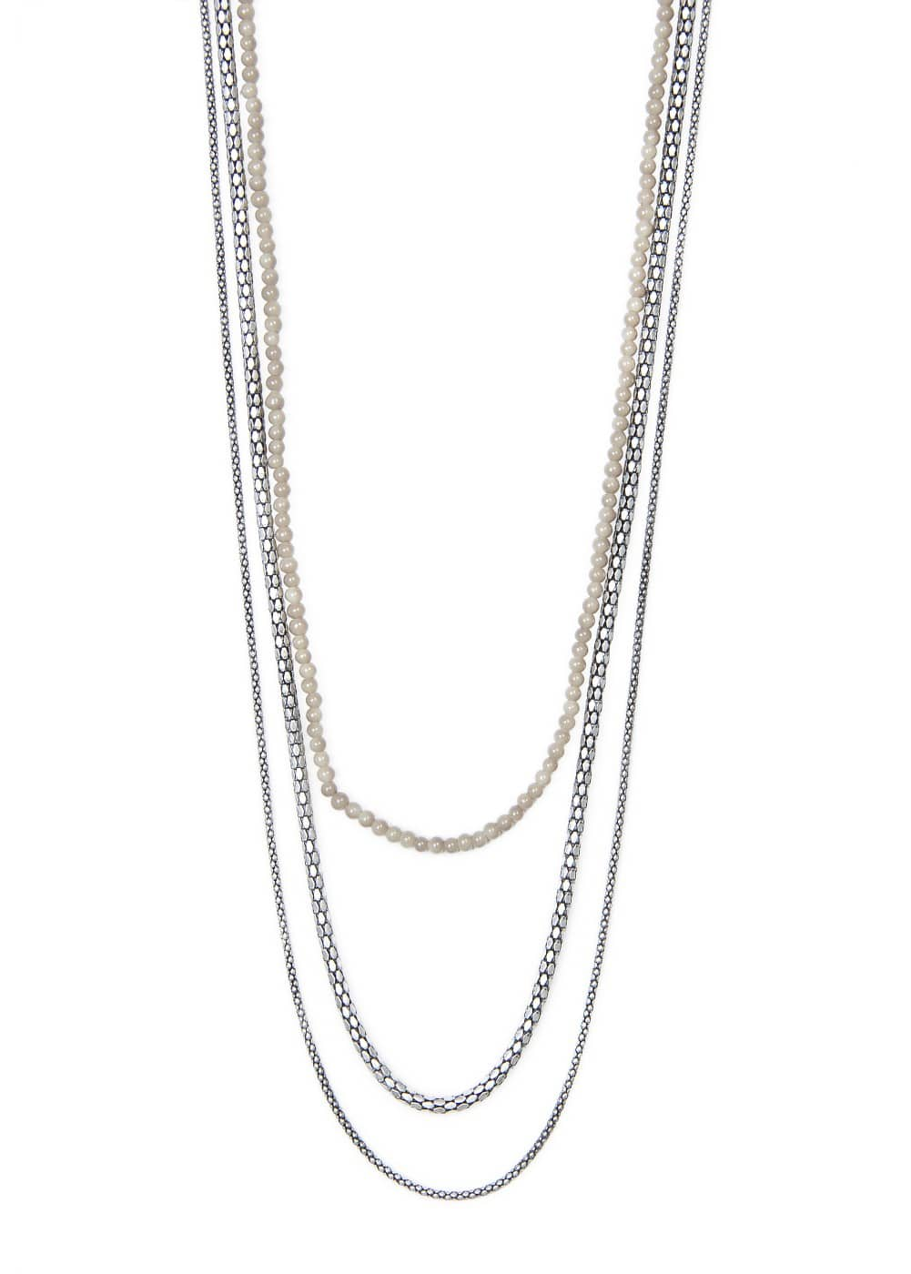 Chains beads necklace | MANGO