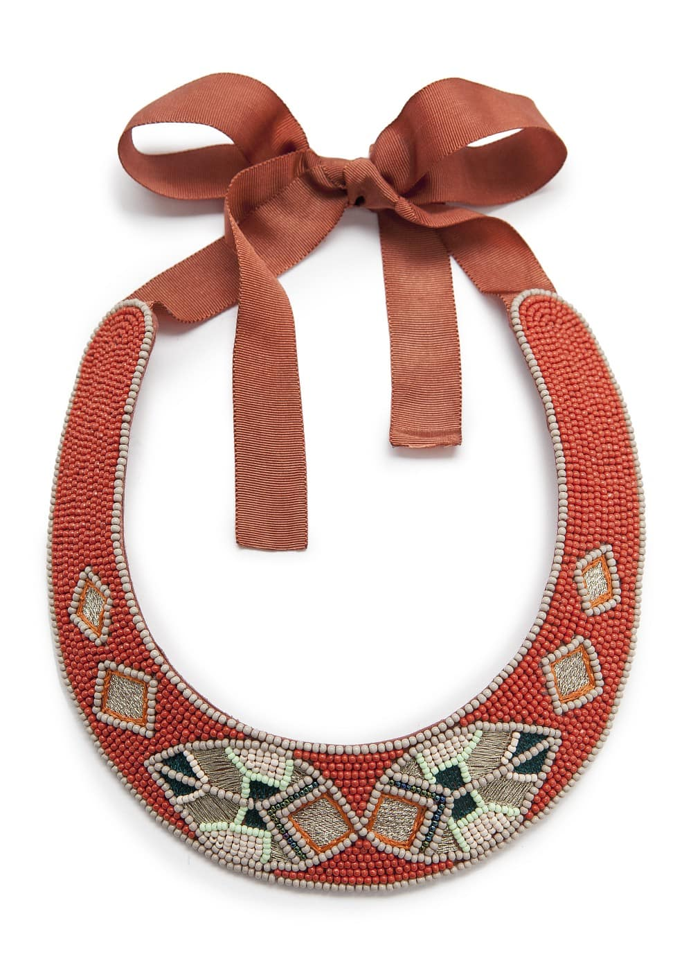 Ethnic beaded choker | MANGO
