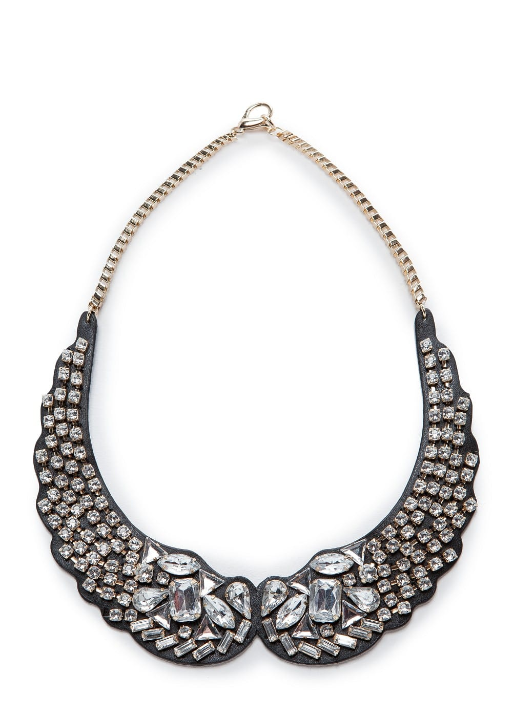 Crystal embellished bib-necklace | MANGO