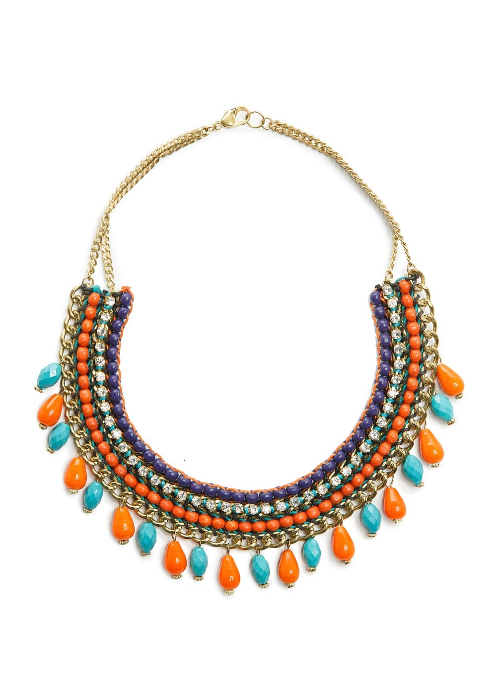 Multicolored ethnic necklace | MANGO