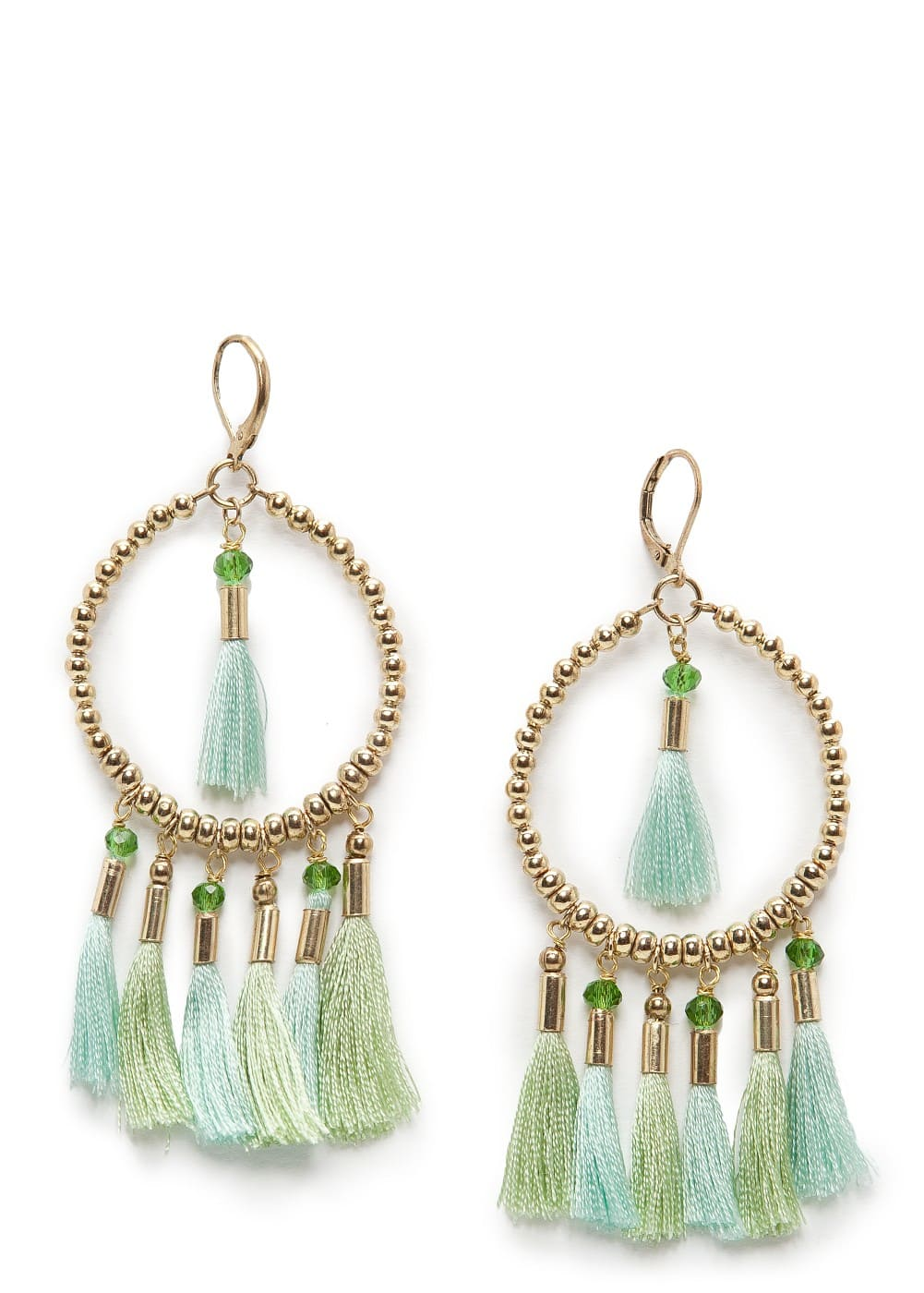 Tasseled hoop-earrings | MANGO