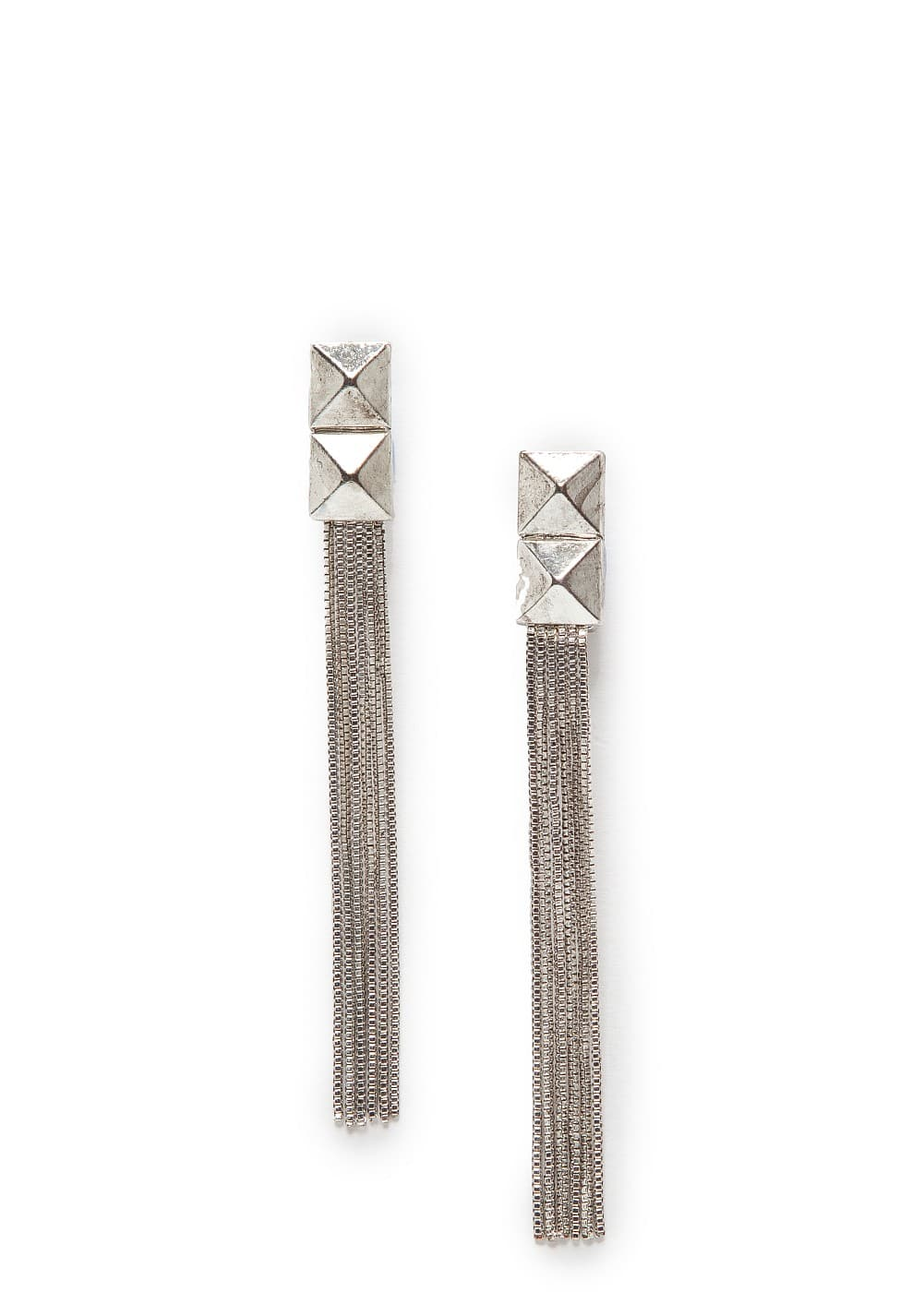 Studs and chains drop earrings | MANGO