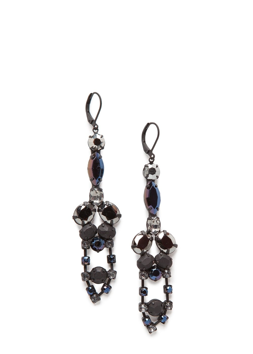 Crystal embellished drop earrings | MANGO