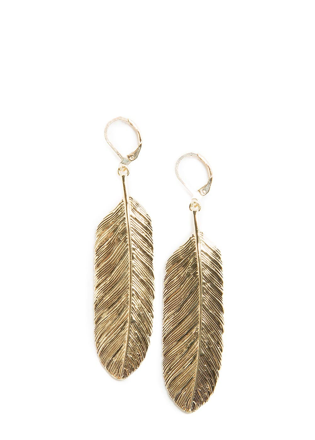Feather earrings | MANGO