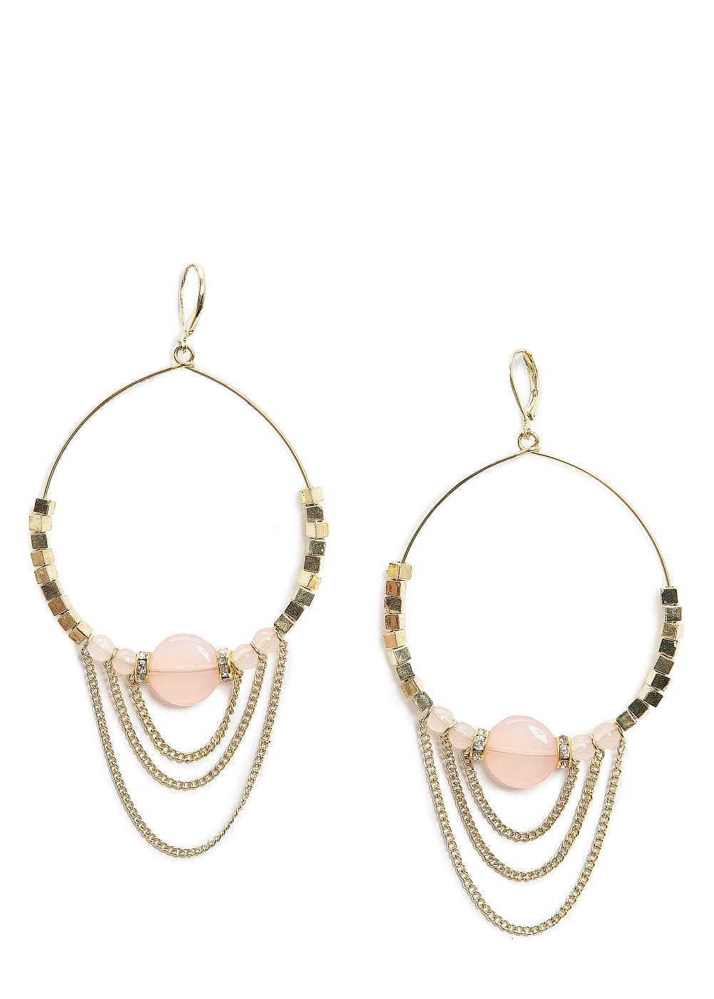 Chains hoop earrings | MANGO