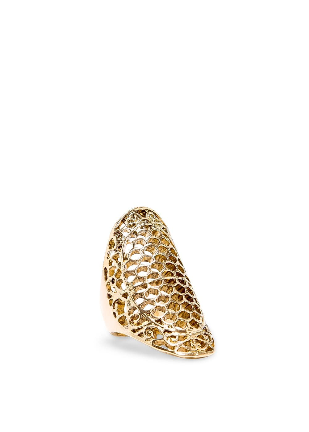 Oval cutout ring | MANGO