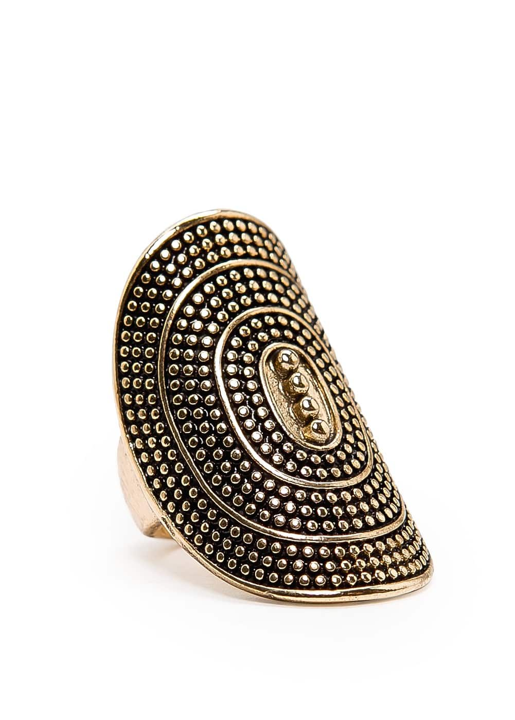 Oval shaped embossed ring | MANGO