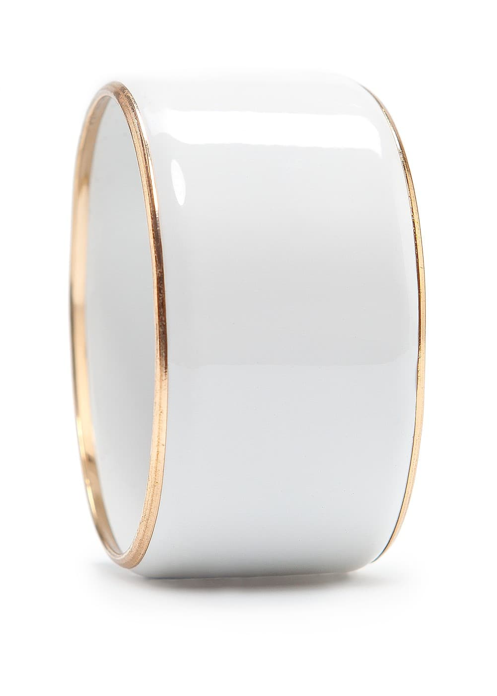Metallic edge cuff | MANGO