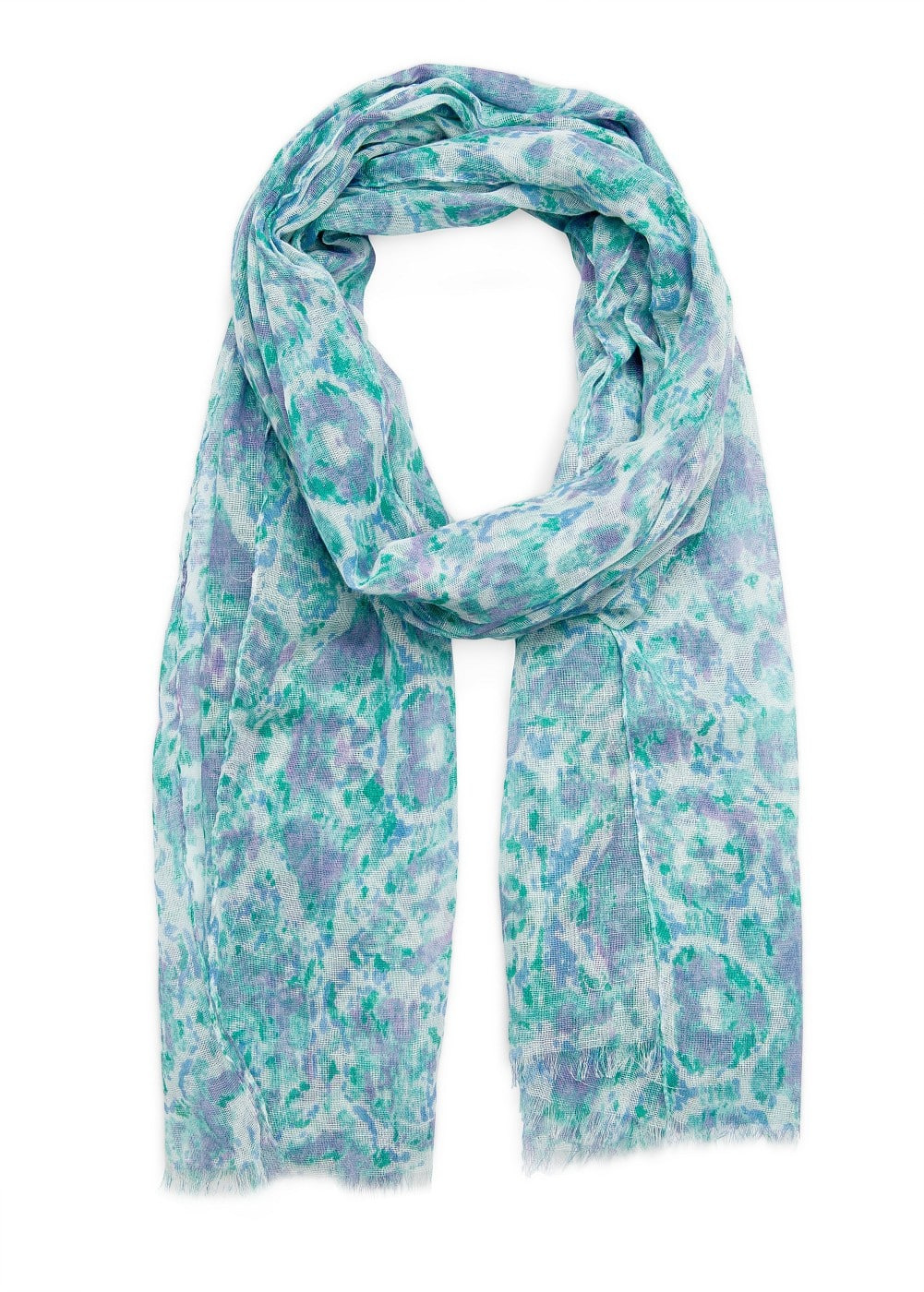 Printed cotton foulard | MANGO
