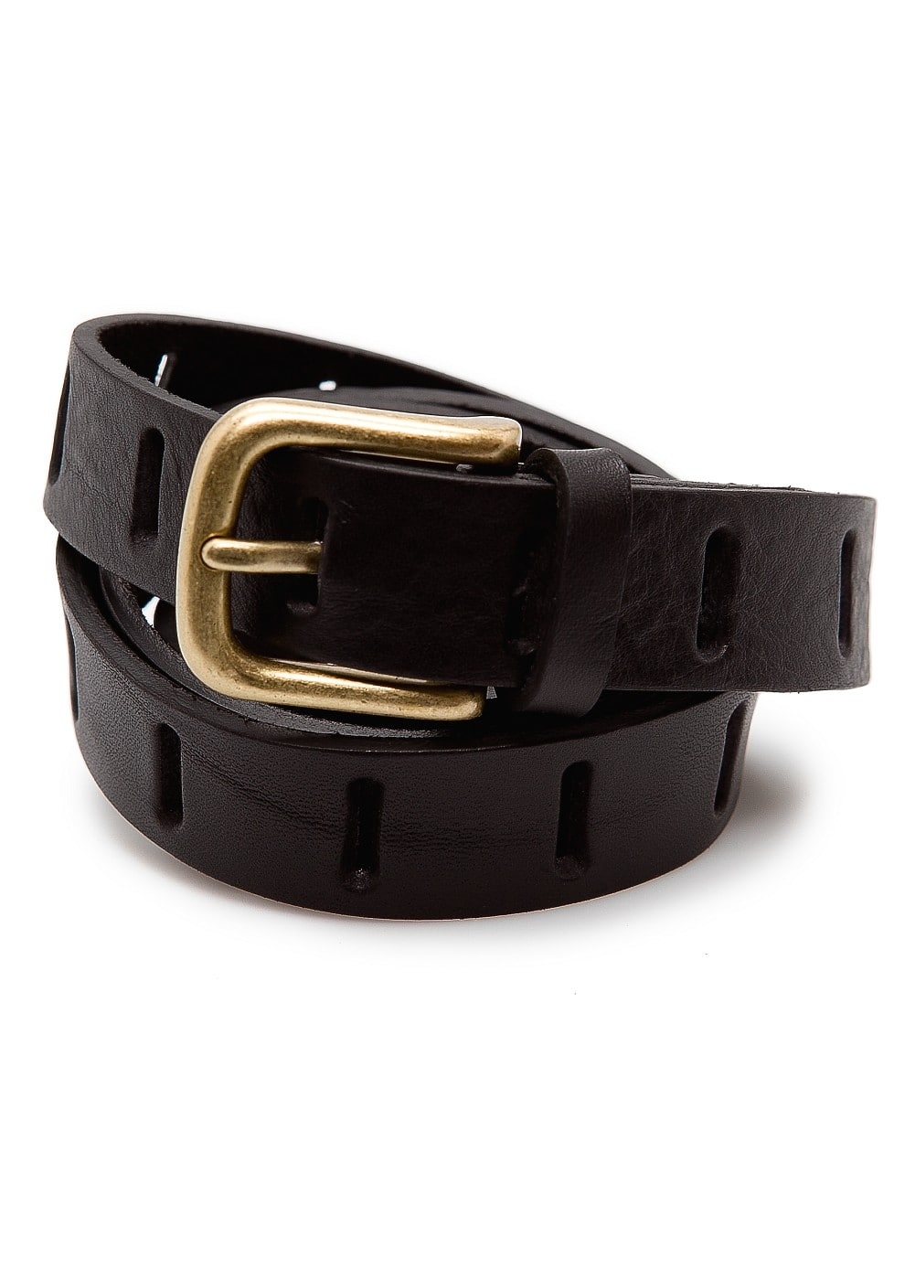 Drilled leather belt | MANGO
