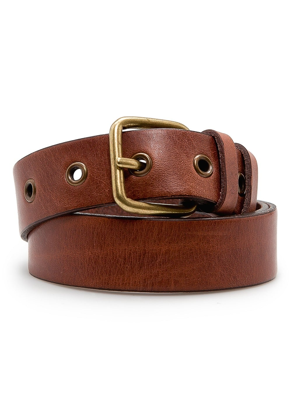 Rivets leather belt | MANGO