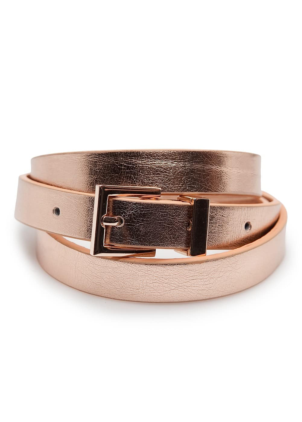 Slim metallic belt | MANGO